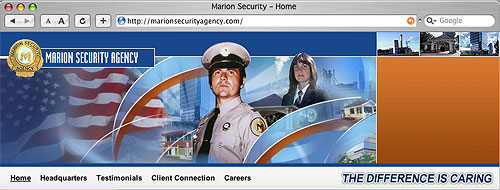 website design marionsecurityagency.com